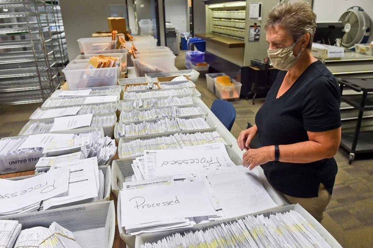 Mail-in ballot processing in Reading, PA