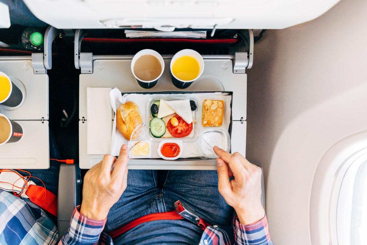 airplane dining