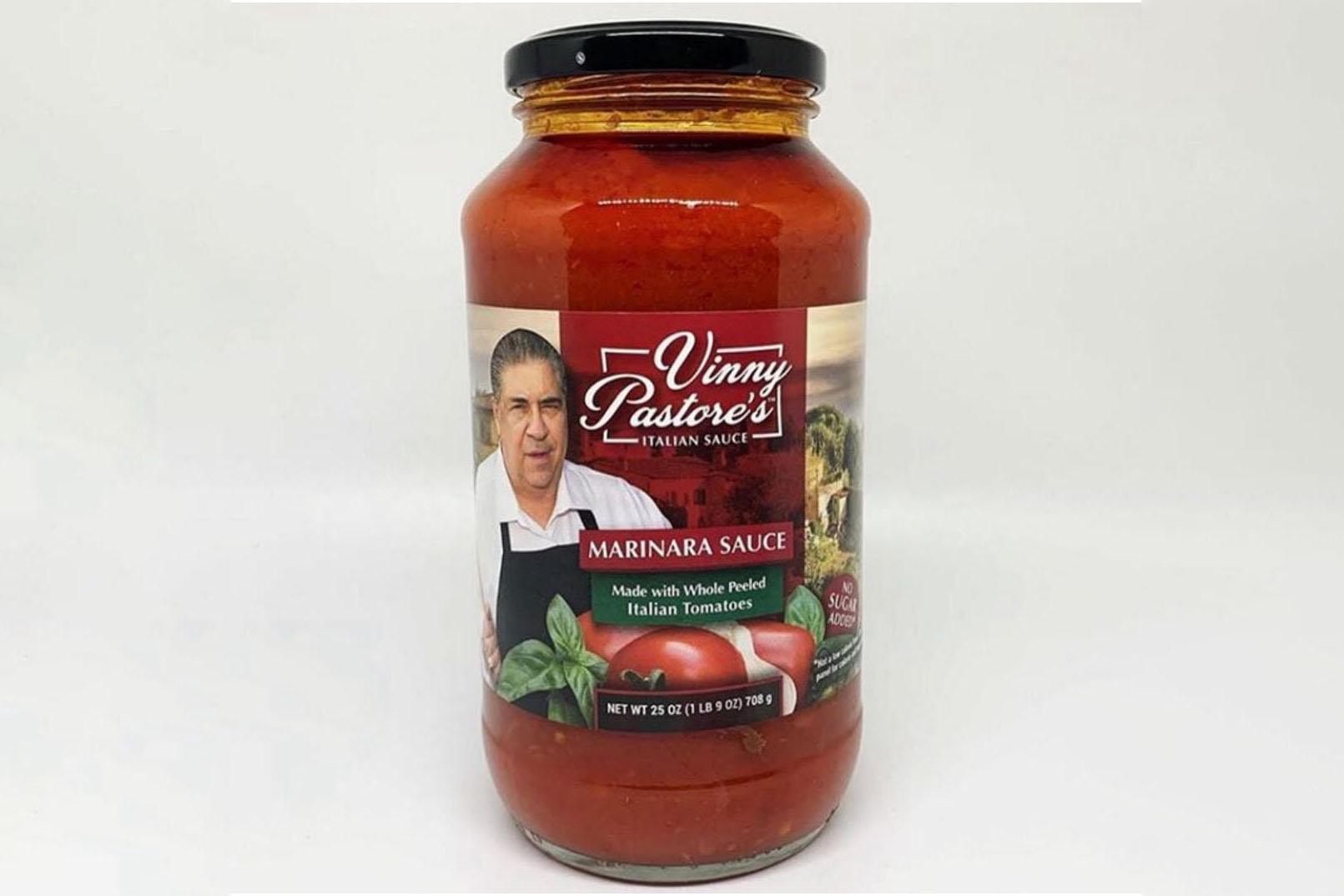jar of vinny pastore marinara sauce