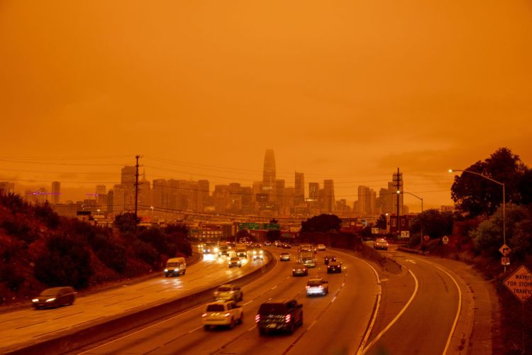 Wildfires in San Francisco create a layer of smoke