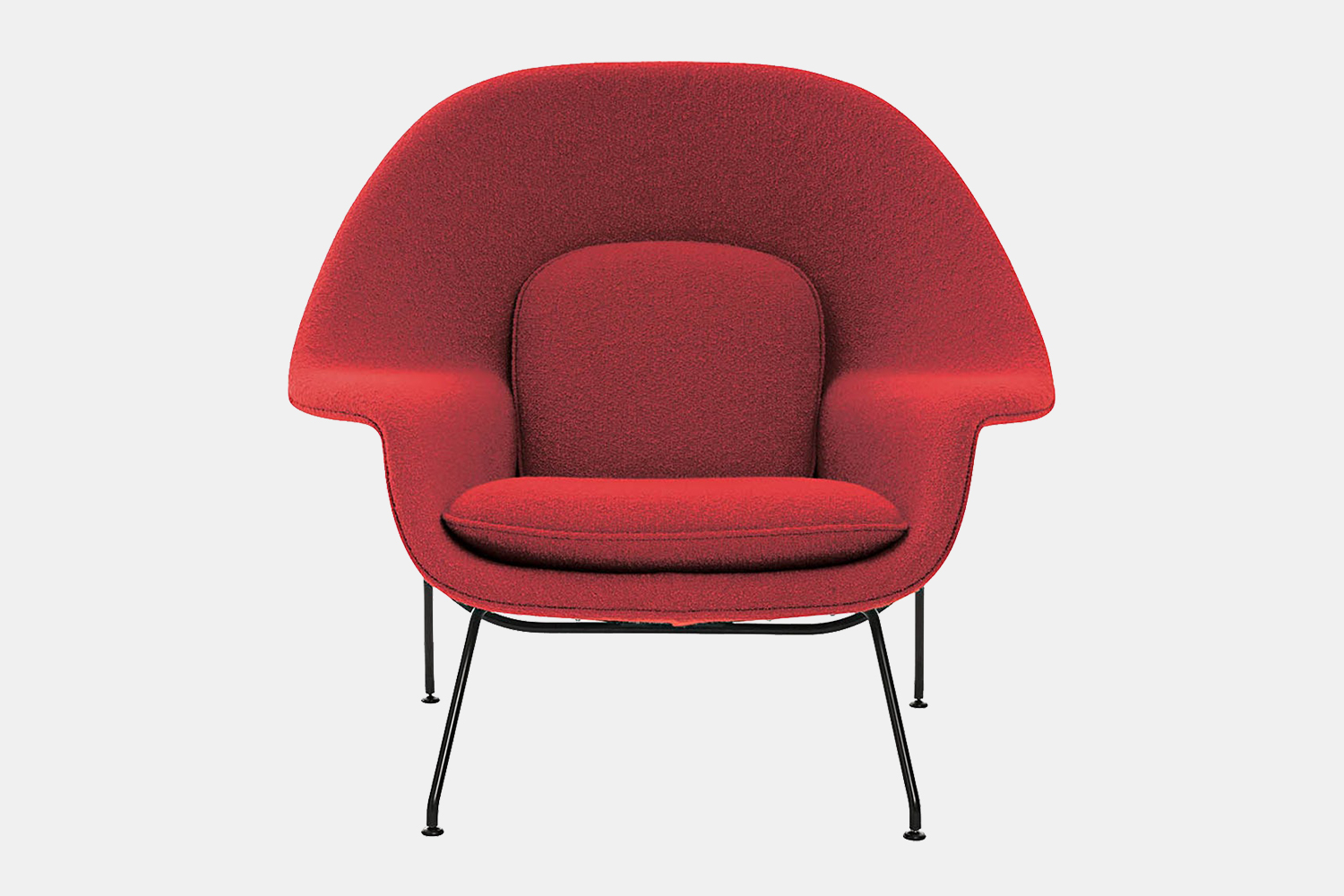 Red Womb Chair from Finnish-American designer Eero Saarinen