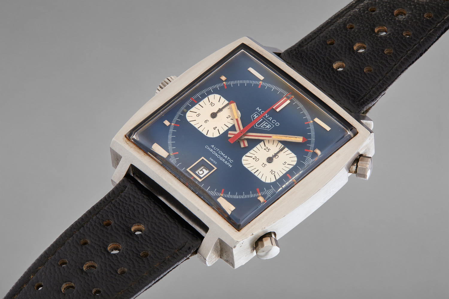 steve mcqueen le mans film tag heuer monaco watch auction
