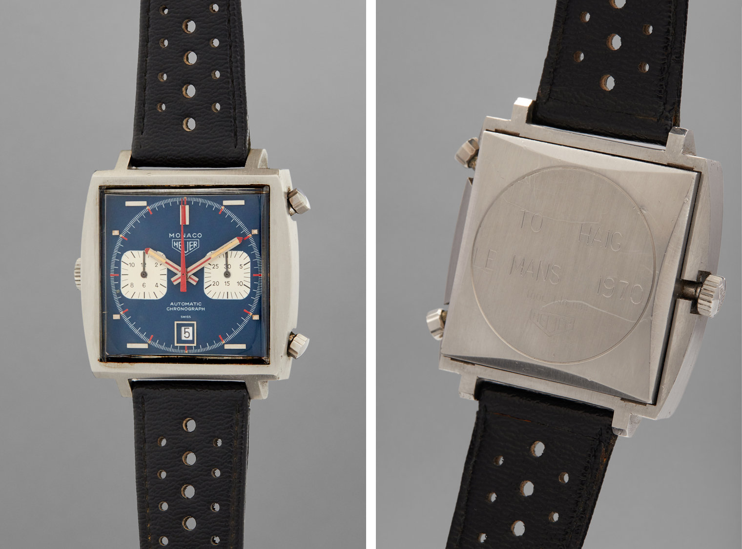 steve mcqueen le mans film tag heuer monaco watch aution