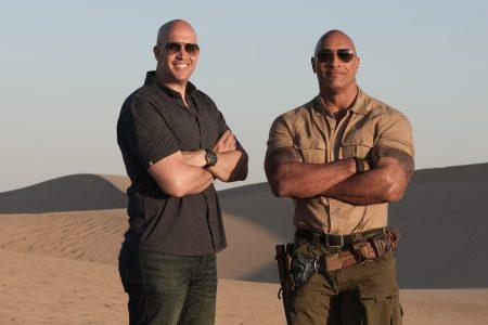 "Hiram Garcia and Dwayne ""The Rock"" Johnson"