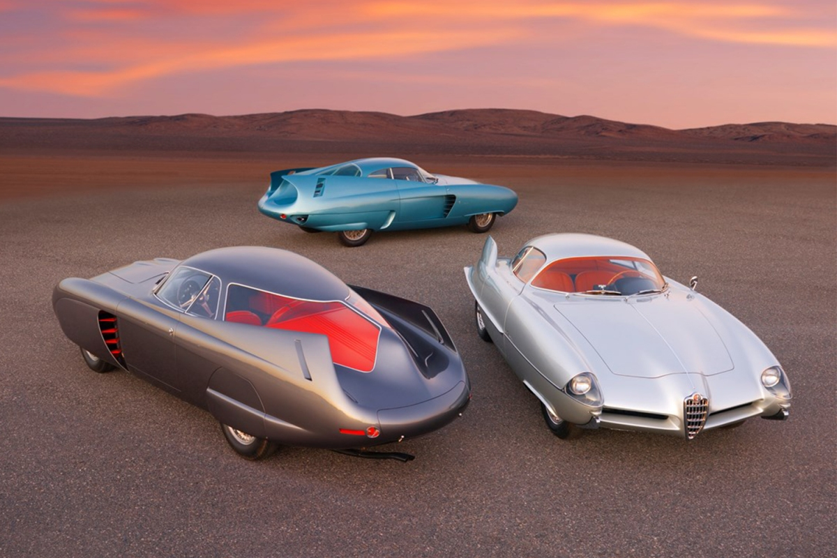 """Why a """"Once-in-a-Generation"""" Trio of Alfa Romeos Is Being Sold at an Art Auction"""