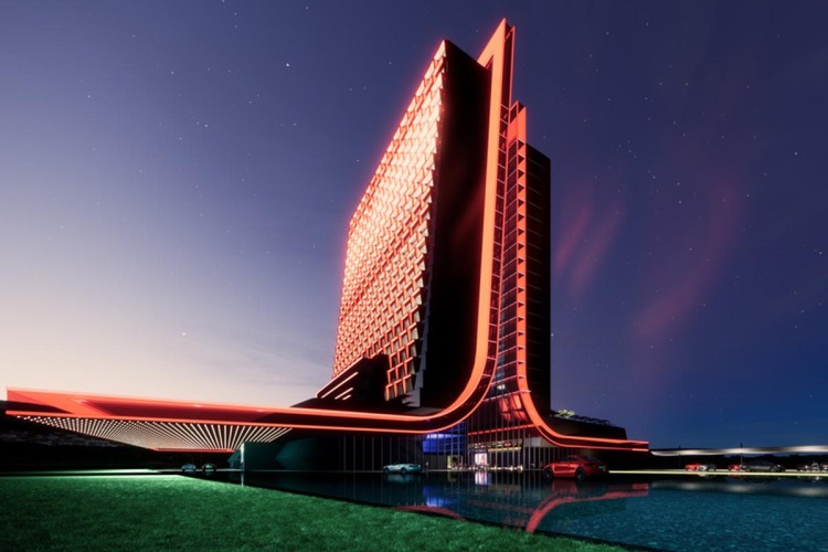 Rendering of the new Atari Hotels
