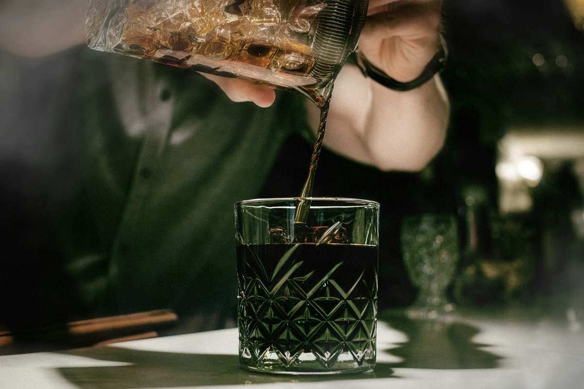 Black Old Fashioned cocktail recipe