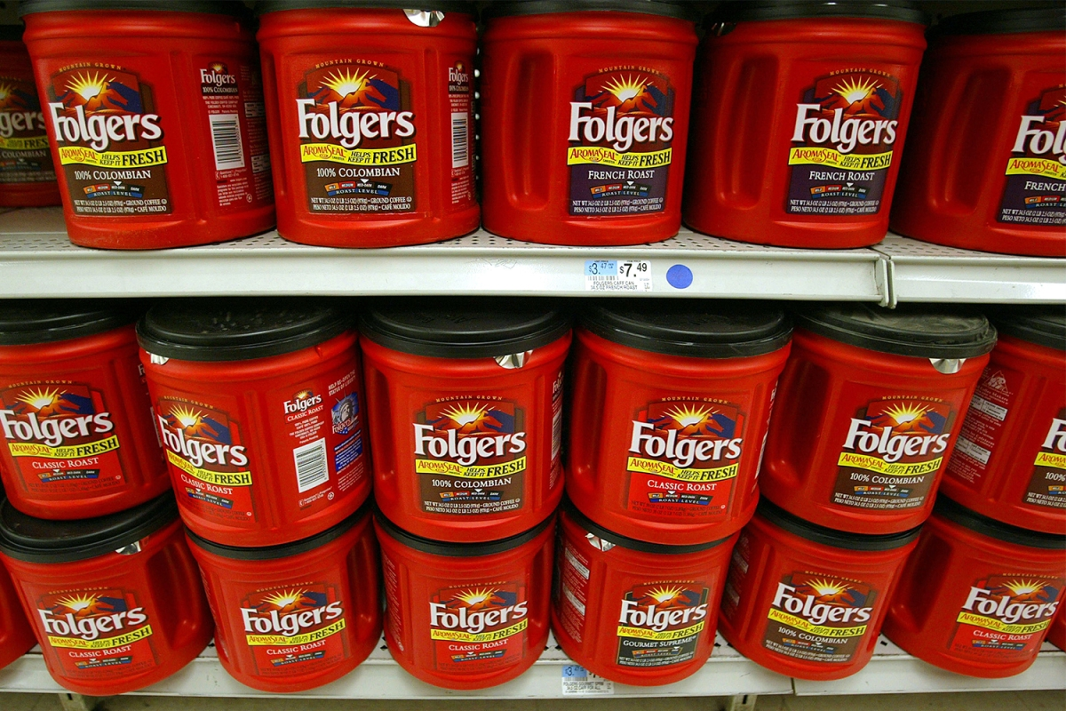 Folgers coffee cans grocery store