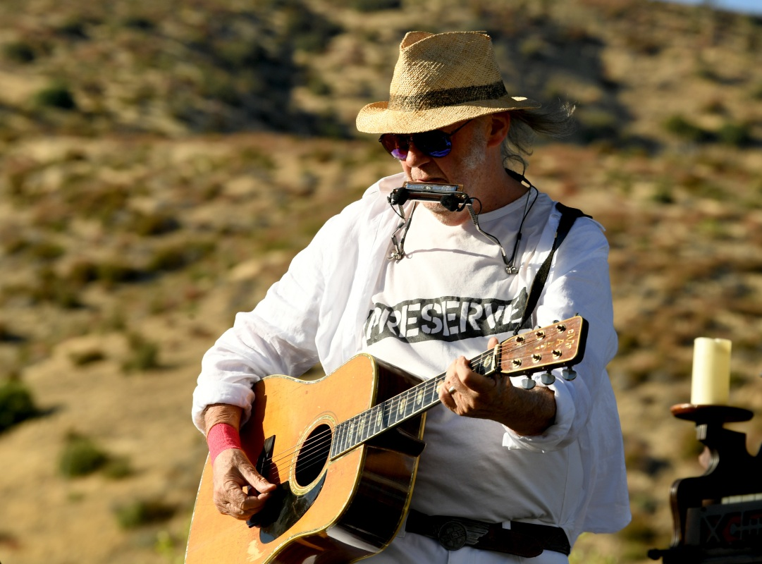 neil young harvest moon benefit