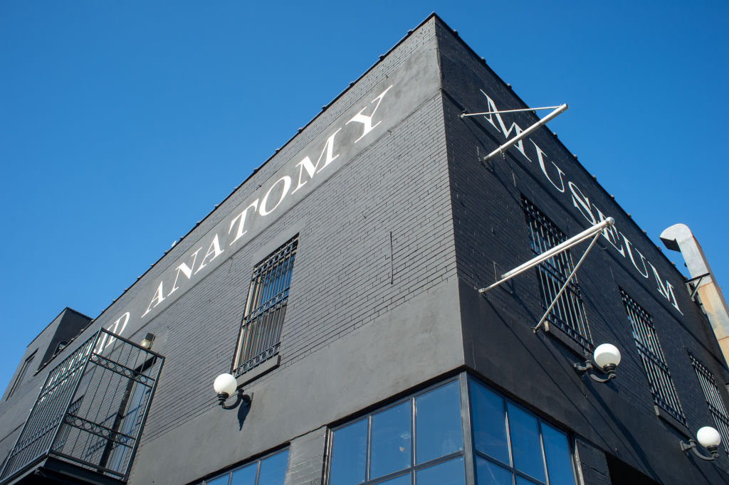 Exterior of Morbid Anatomy Museum in Brooklyn, New York, USA
