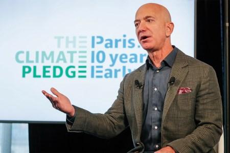Amazon CEO Jeff Bezos at the National Press Club