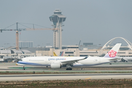 China Airlines airplane at LAX