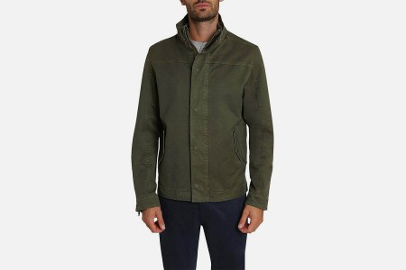 Jachs Green Stretch Canvas Lined Field Jacket on sale