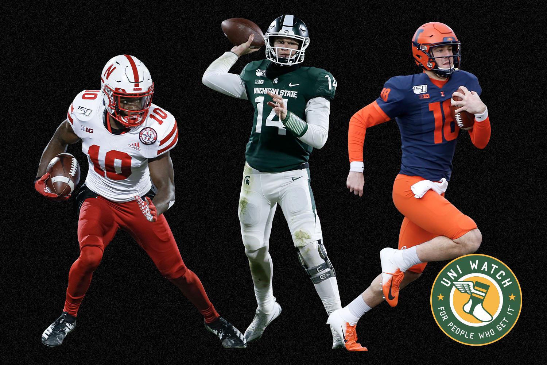 big ten college football uniforms