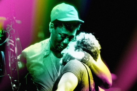 Bruce Springsteen and Clarence Clemons Embrace on Stage