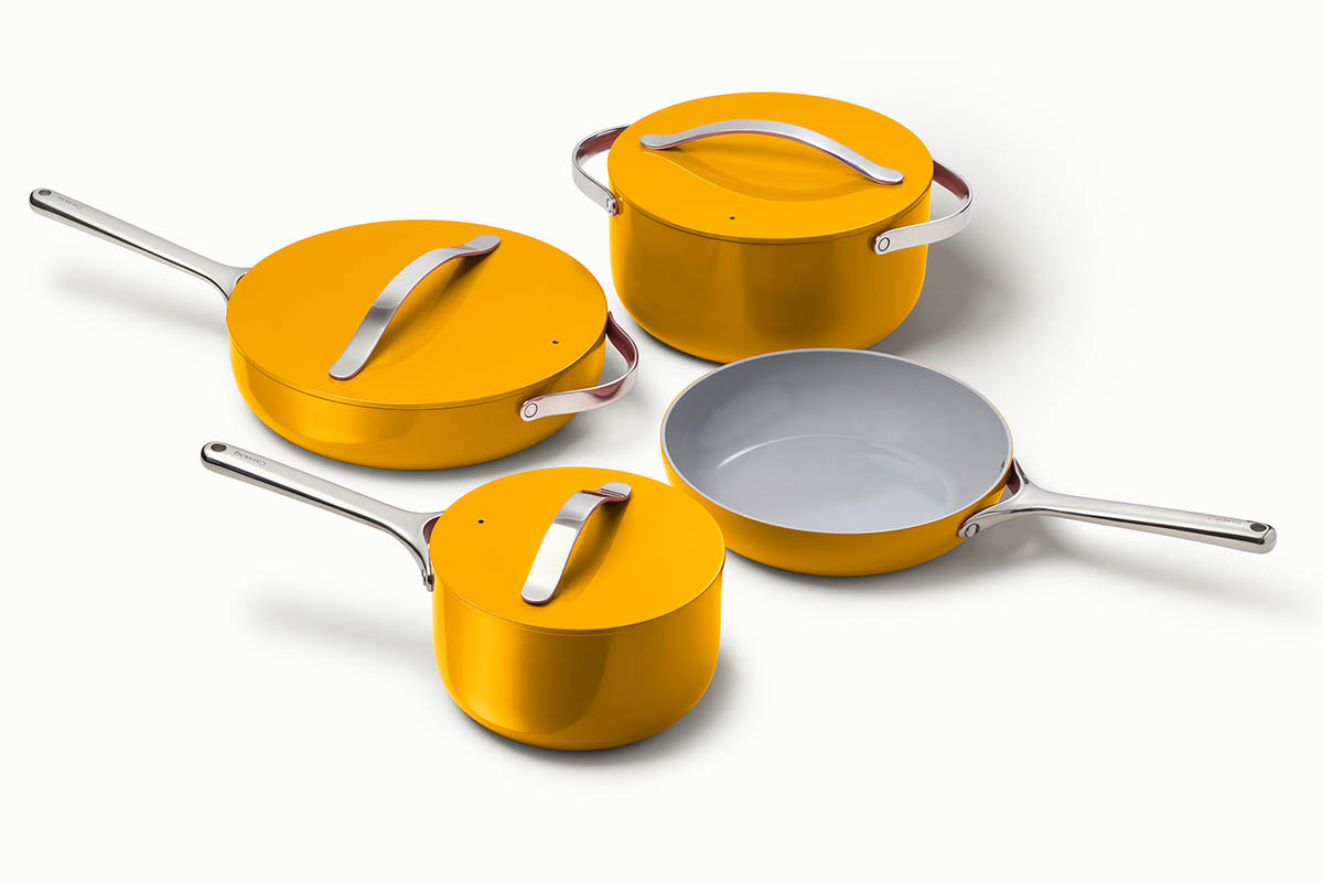 Caraway Marigold cookware