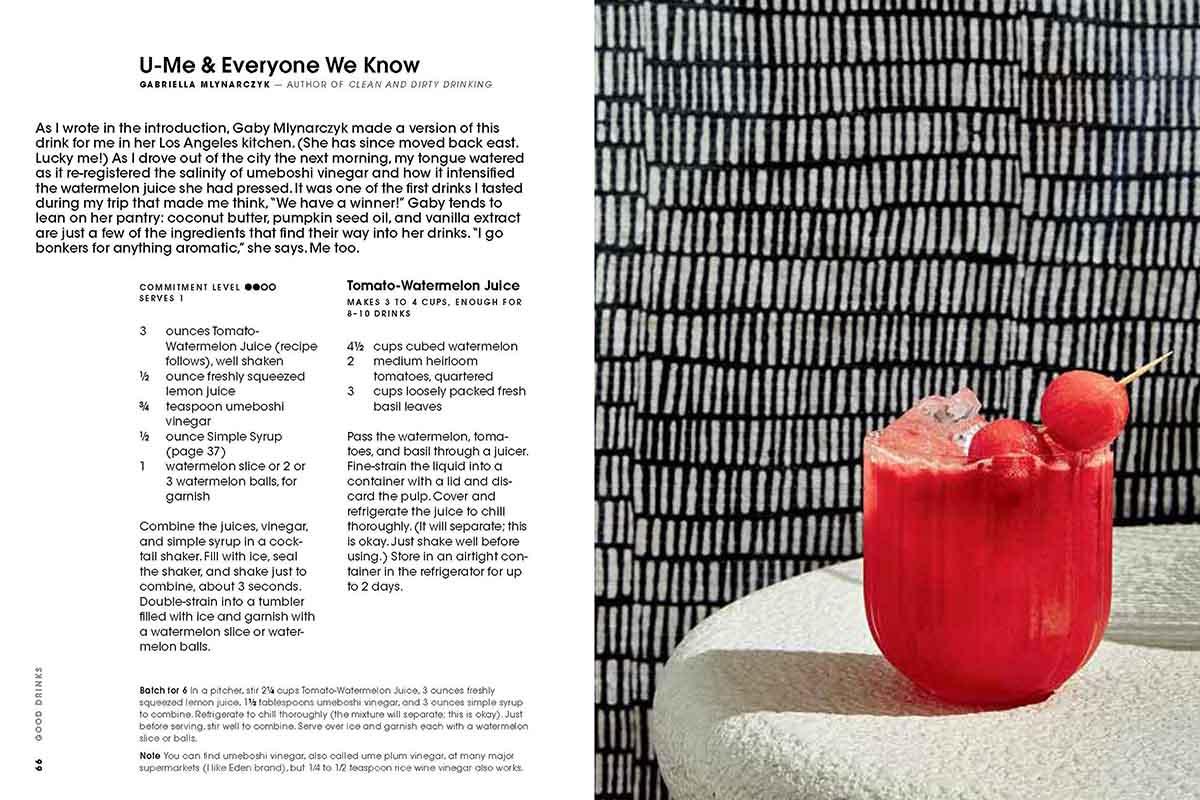 Good Drinks book recipe