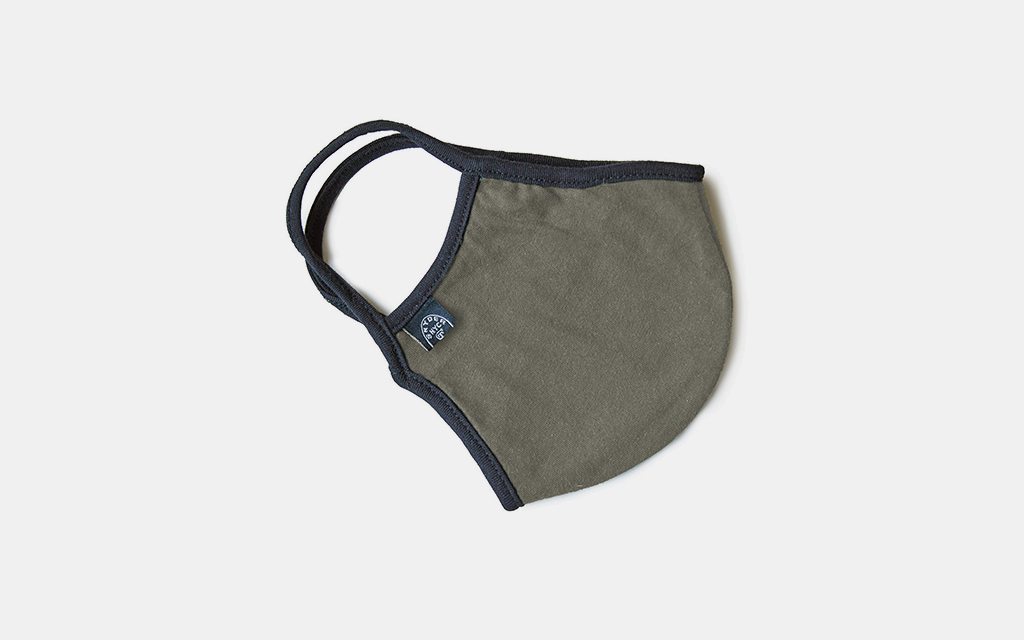 Todd Snyder Cotton Jersey Face Mask in Olive Drab