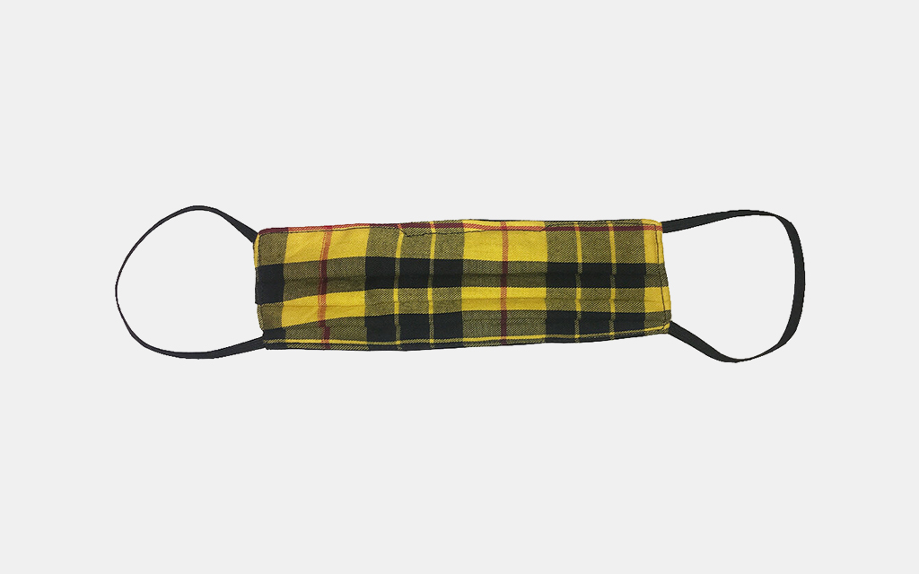 Phlemuns Yellow Plaid Face Mask