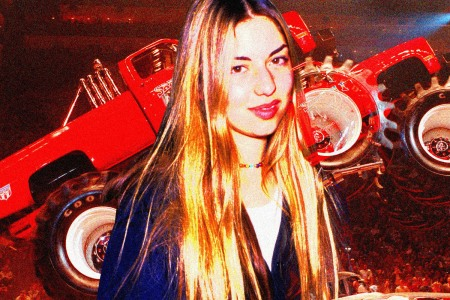 sofia coppola with monster truck 1994