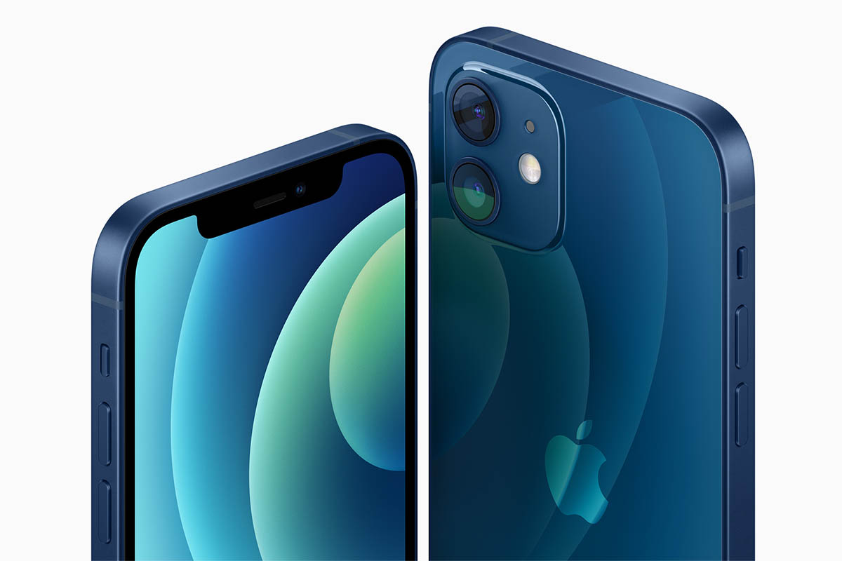 New Apple iPhone 12 models in blue