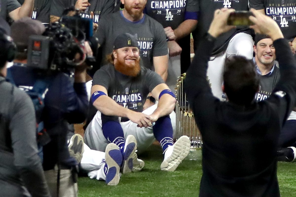 LA Star Justin Turner Joins World Series Celebration After Positive COVID-19 Test