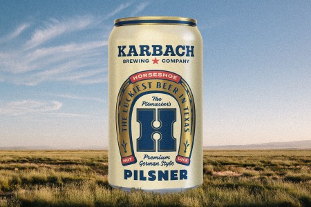 karbach horseshoe pilsner
