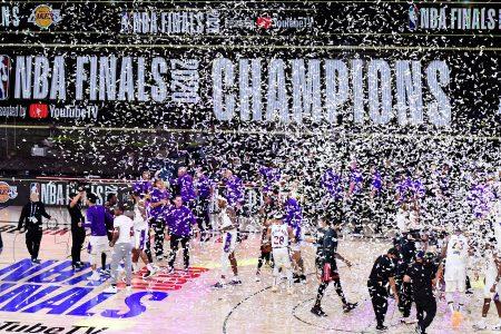Los Angeles Lakers win NBA championship