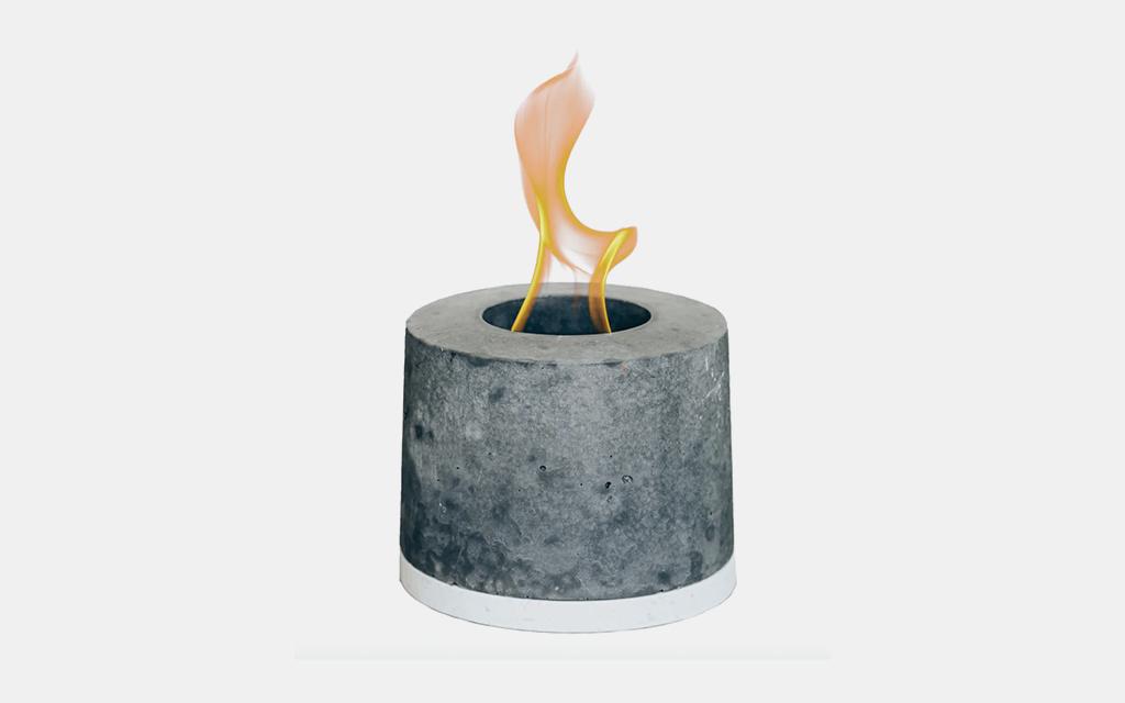 FLIKR Fire Personal Concrete Fireplace