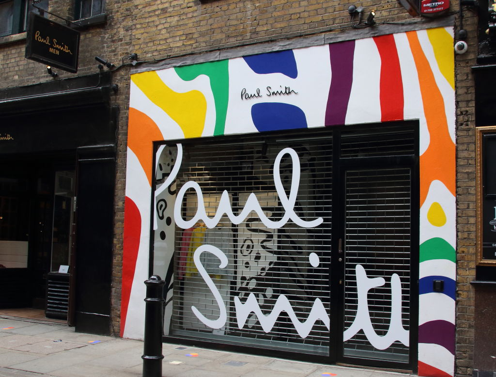 Paul Smith menswear store off Covent Garden in Central