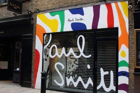 Paul Smith menswear store off Covent Garden in Central