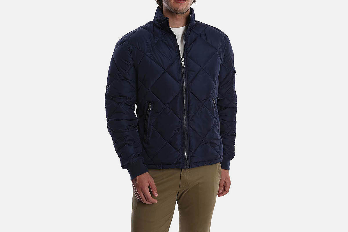 Jachs Navy Quilted Puffer Jacket