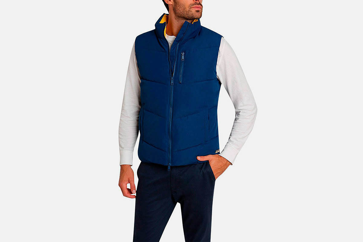 Jachs Blue Quilted Puffer Vest