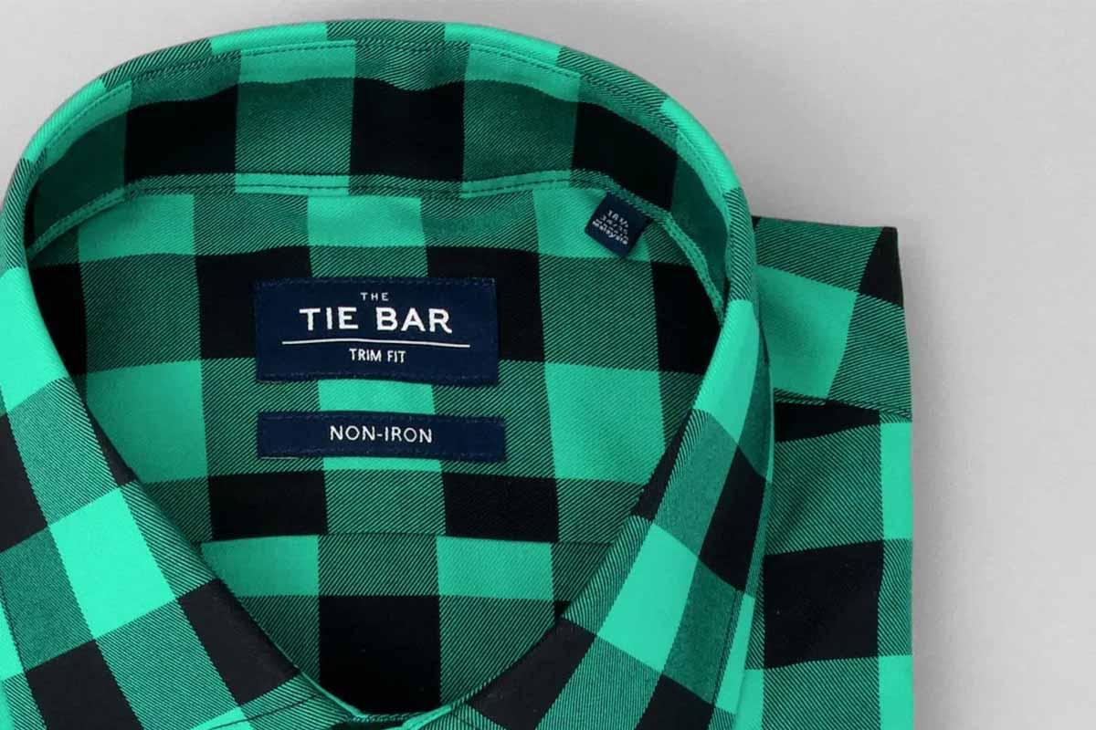The Tie Bar buffalo check dress shirts