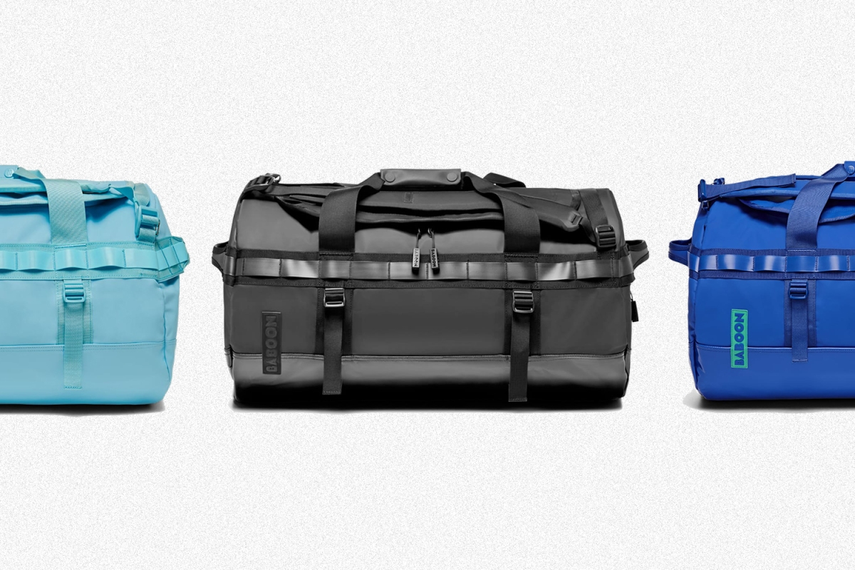 Baboon to the Moon duffel bags