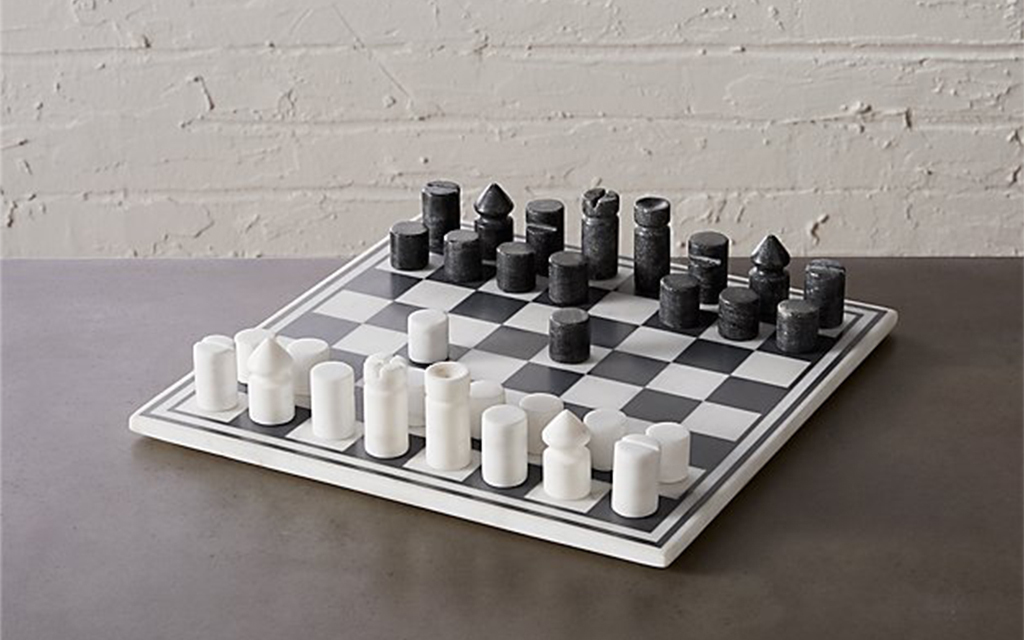 CB2 Marble Chess Board