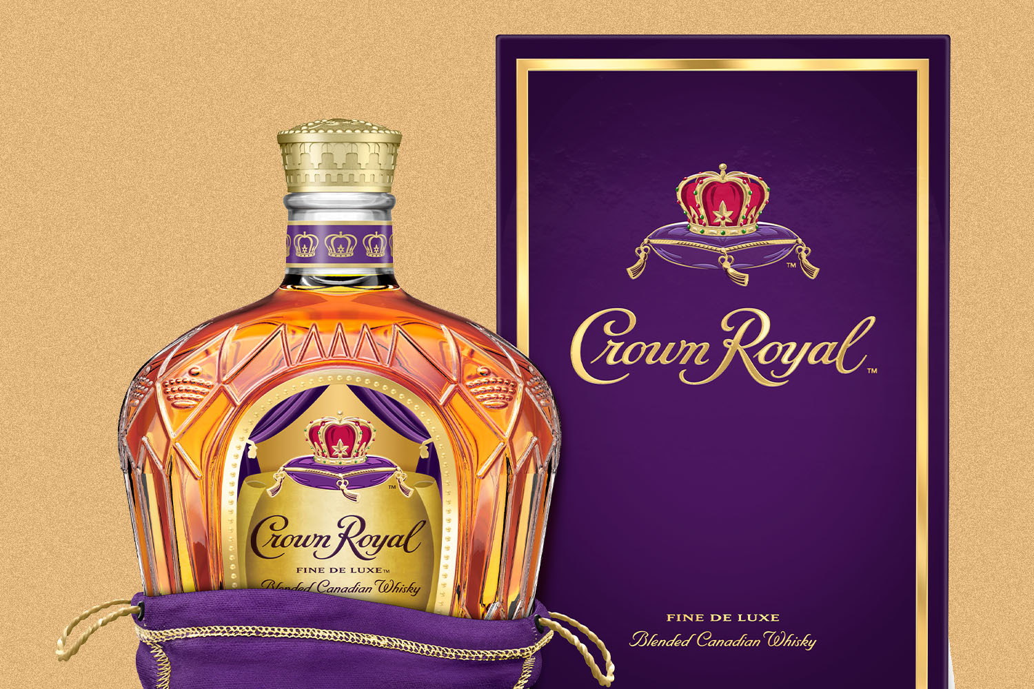 Crown Royal bottle and box