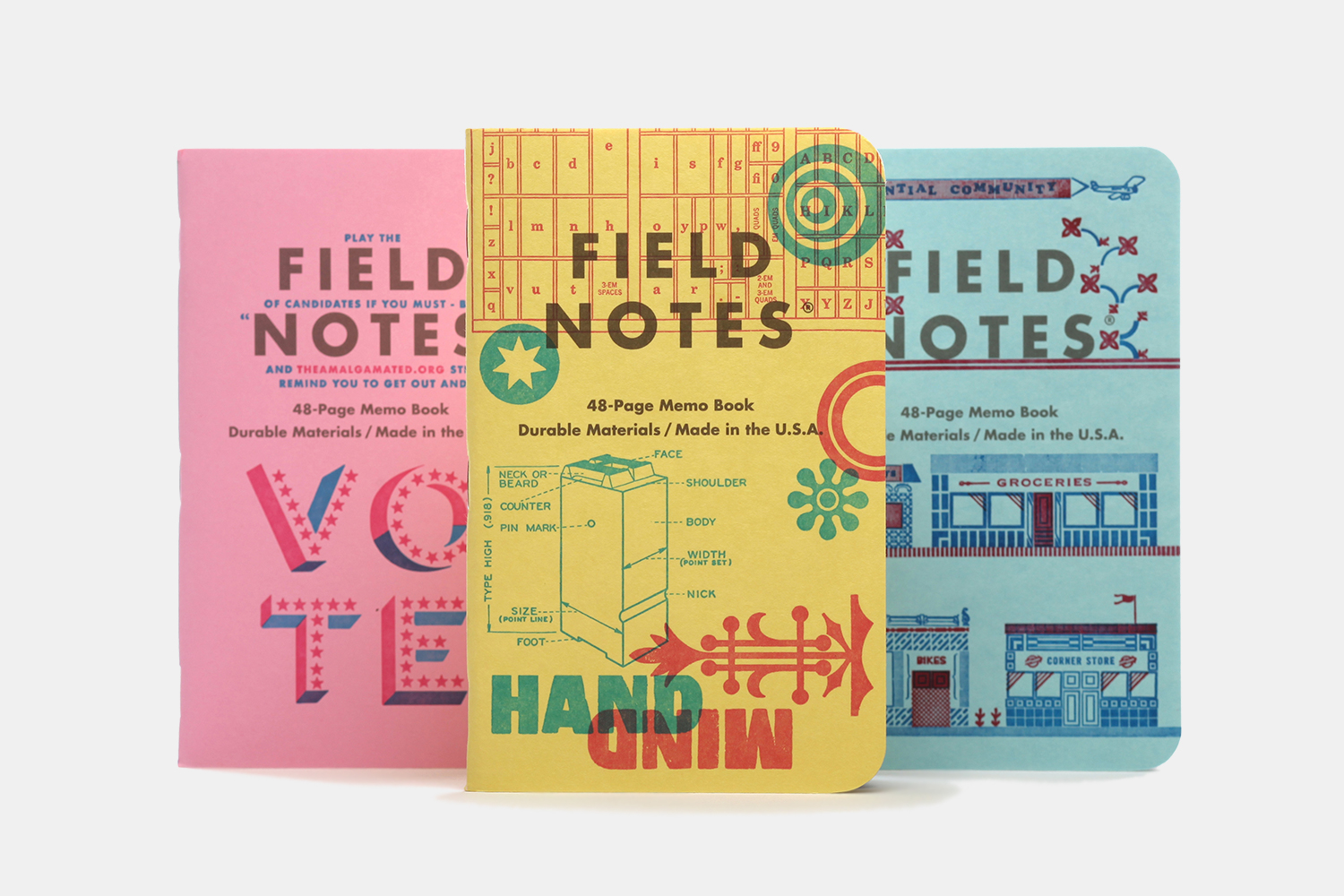 Field Notes United States of Letterpress Notebooks
