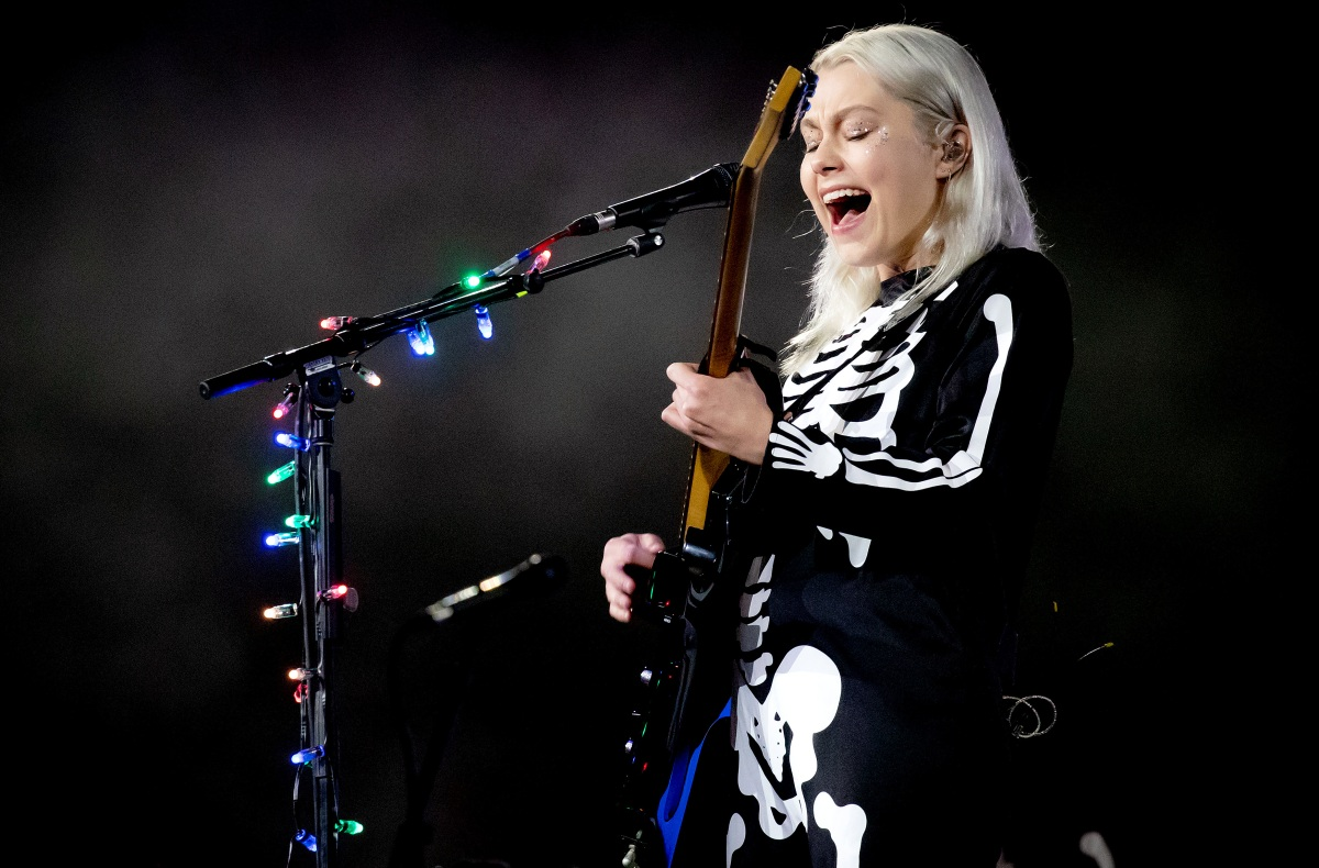 Phoebe Bridgers in skeleton outfit
