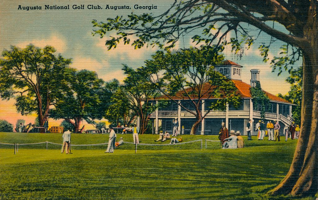 Augusta National Golf Club House, 1943.