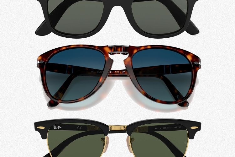 Ray-Ban and Persol sunglasses