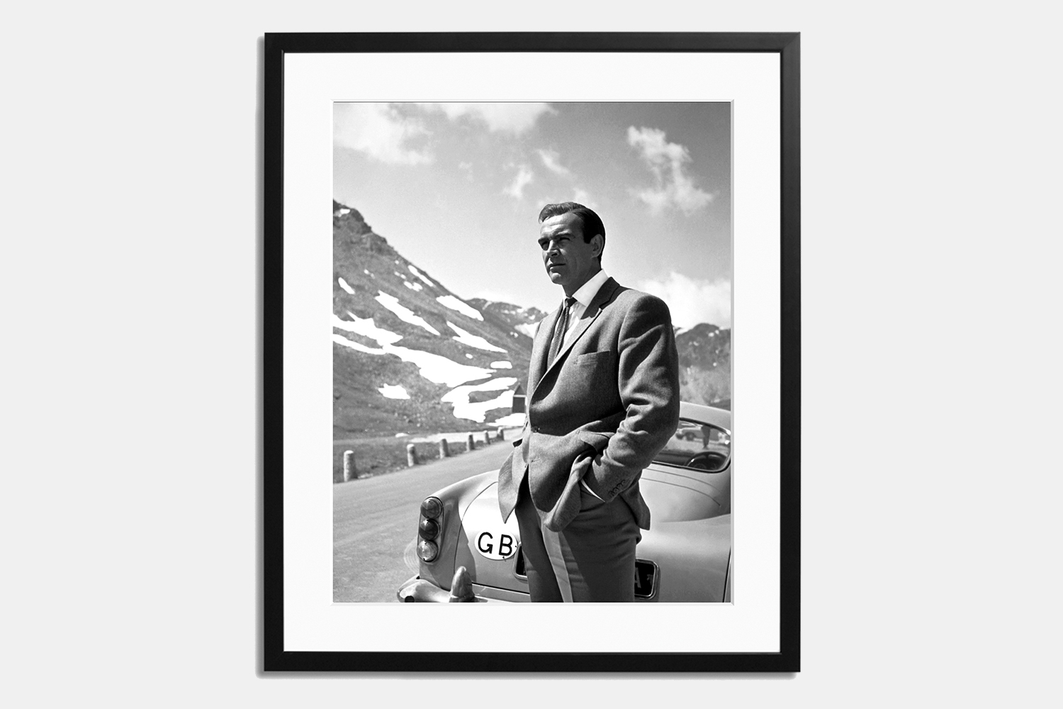 Sonic Editions Sean Connery Goldfinger Aston Martin DB5 Print