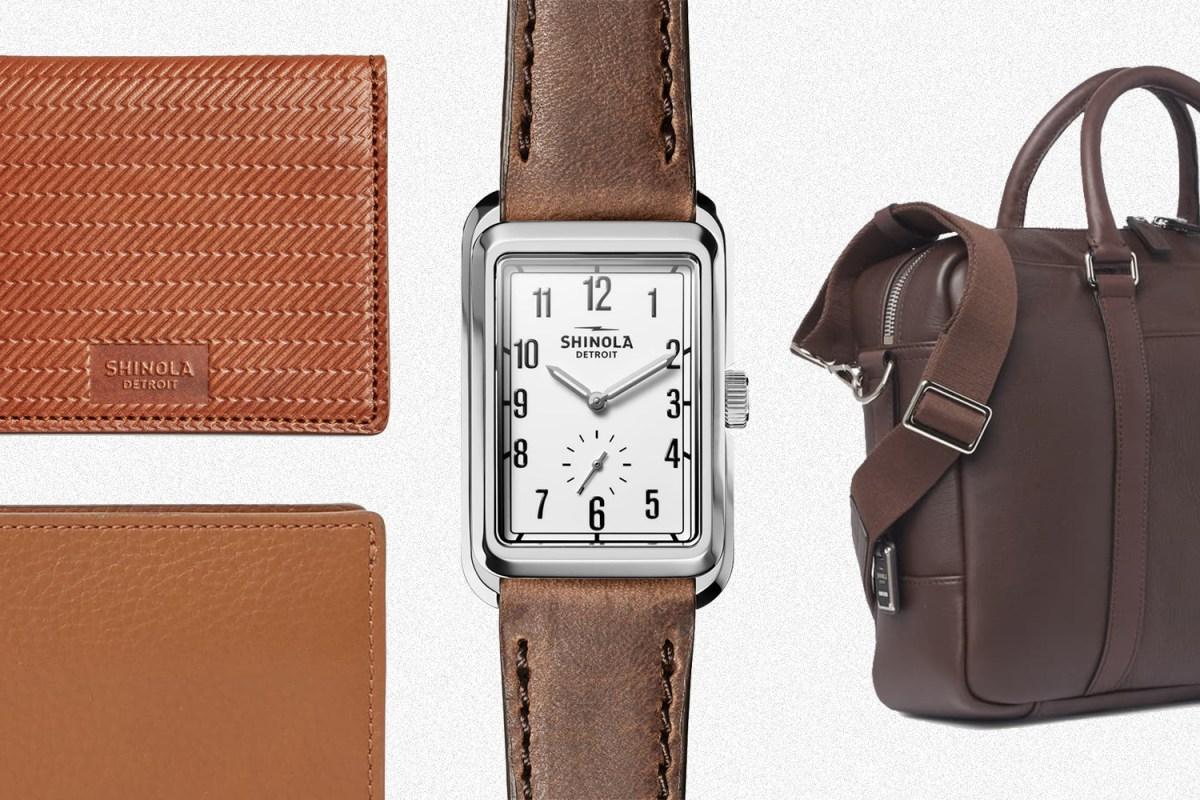 Shinola Omaha watch and leather goods