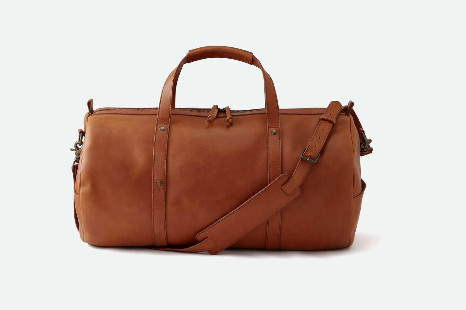 Standard Issue Leather Gym Duffle