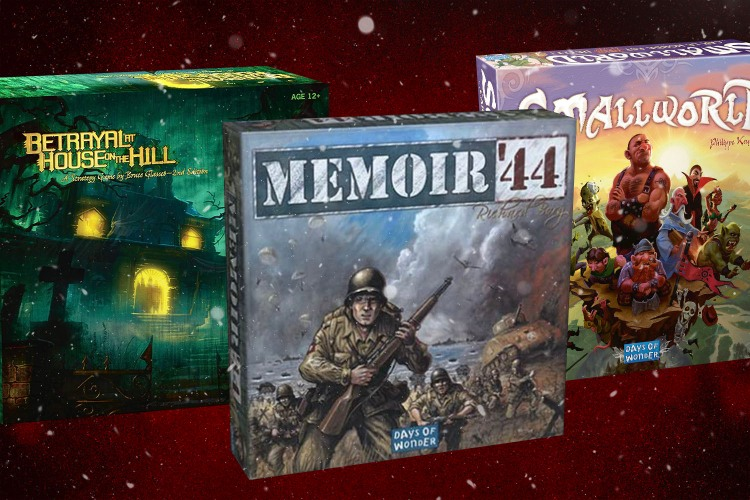 Betrayal, Memoir '44 and Small World board games