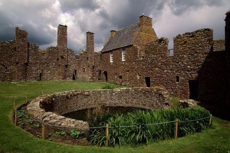 Inner courtyard of Dunnottar Castle, Stonehaven