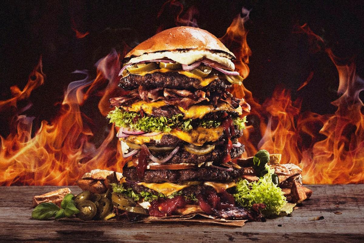extra large cheeseburger
