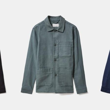 everlane men's flannel chore jacket