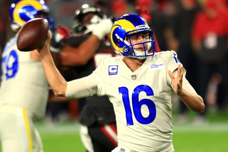 "Tom Brady Outplayed by Jared Goff as Rams Beat Bucs on ""Monday Night Football"""