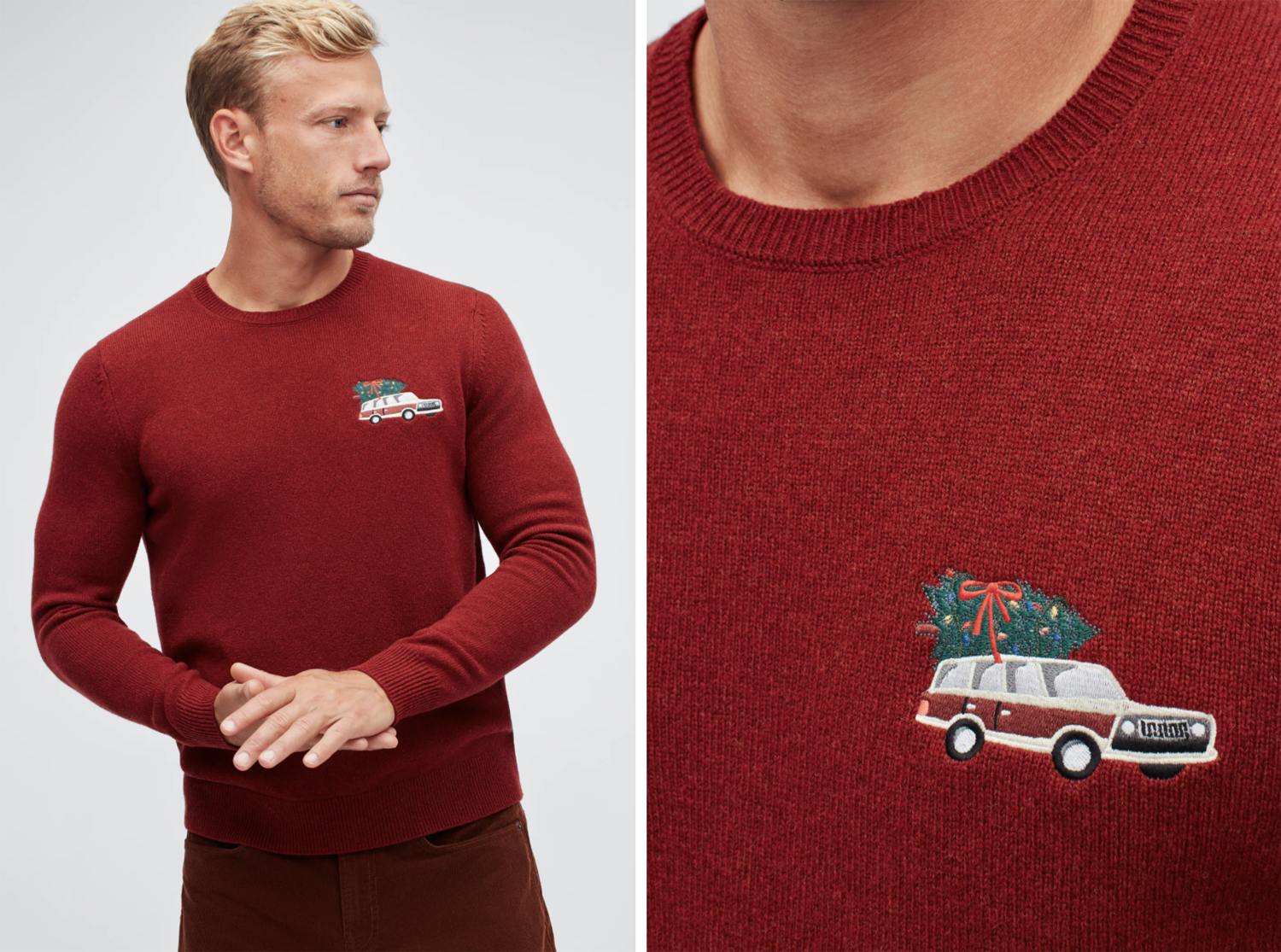 bonobos Holiday Wagon Crew Neck Sweater